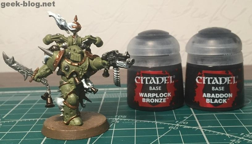 How to paint Death Guard Plague Marine step 4.1 painting