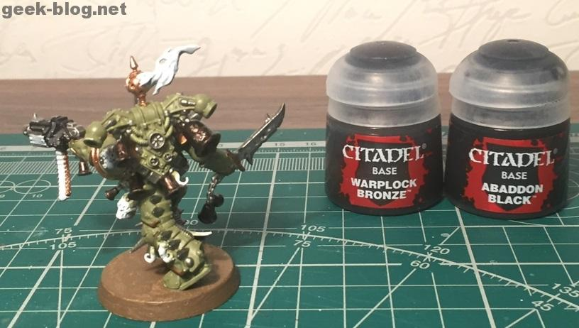 How to paint Death Guard Plague Marine step 4.2 painting