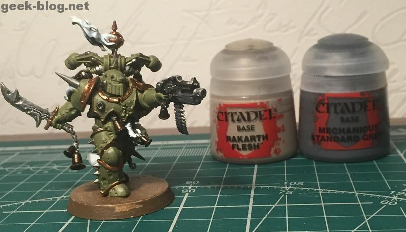 How to paint Death Guard Plague Marine step 5.1 painting