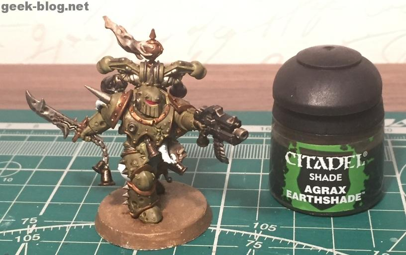How to paint Death Guard Plague Marine step 7.1 shading