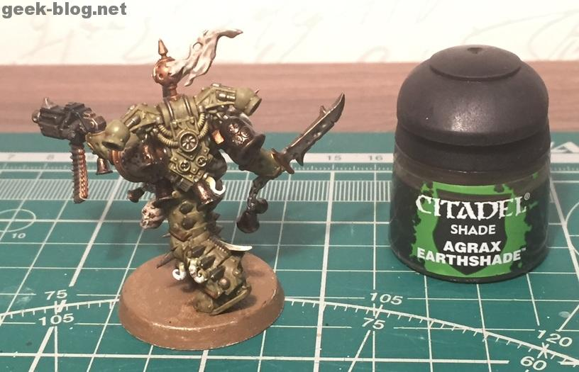 How to paint Death Guard Plague Marine step 7.2 shading
