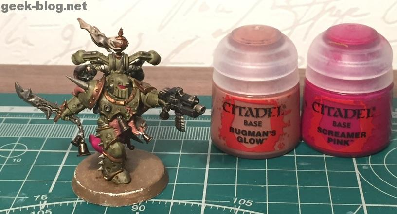 How to paint Death Guard Plague Marine step 8.1 painting