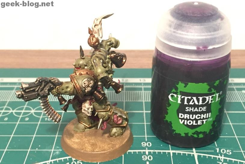 How to paint Death Guard Plague Marine step 9.2 shading