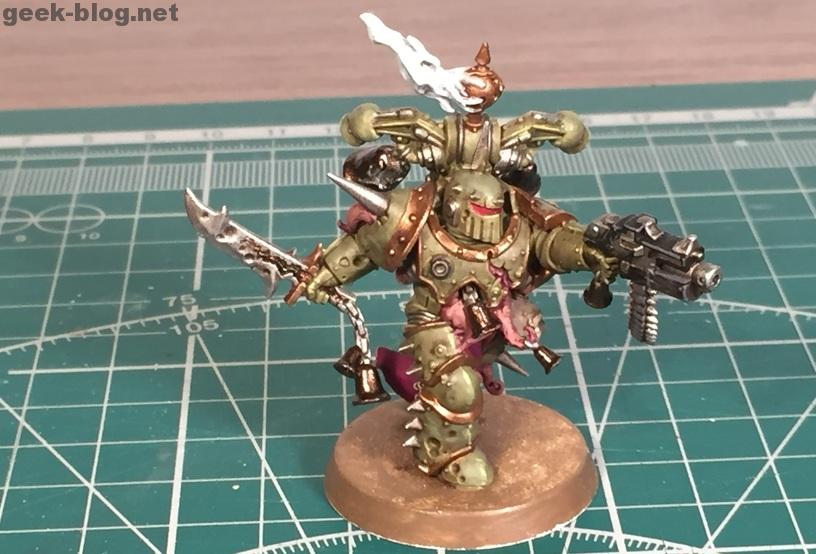 How to paint Death Guard Plague Marine step 10.2 highlighting