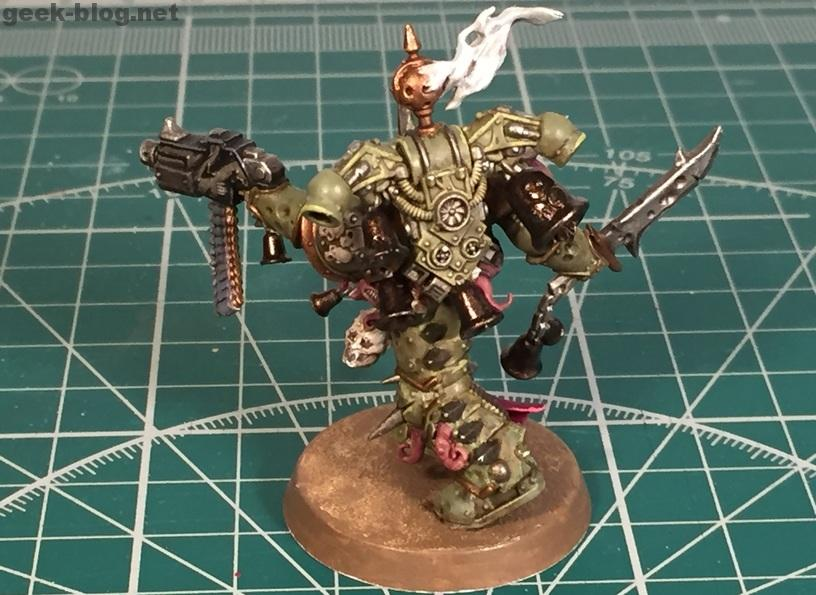 How to paint Death Guard Plague Marine step 10.3 highlighting