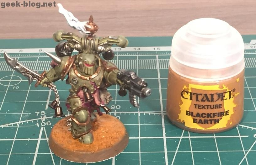 How to paint Death Guard Plague Marine step 11 texturing base