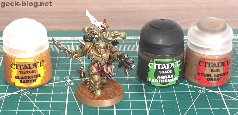 How to paint Death Guard Plague Marine step 12 decorating base