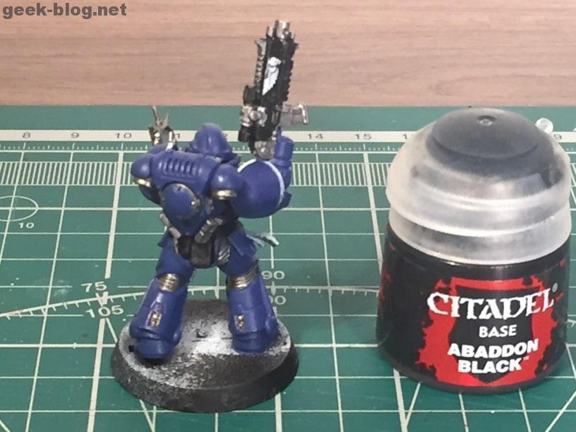 how to paint ultramarine abaddon black