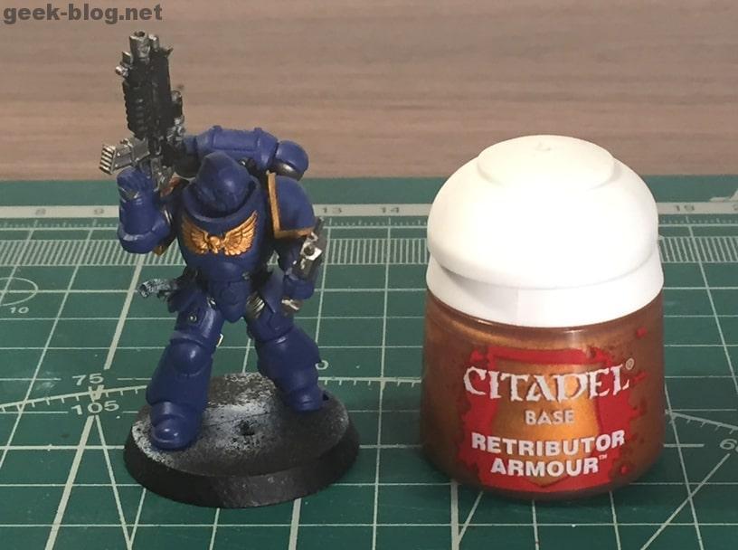 how to paint ultramarine retributor armour