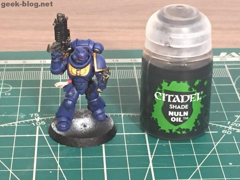 how to paint ultramarine nuln oil 1