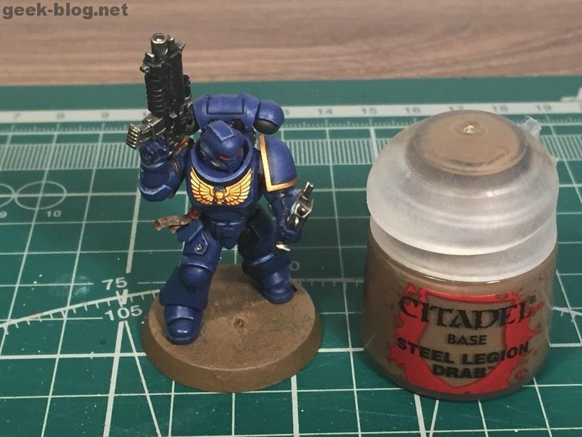 how to paint ultramarine base steel legion drab