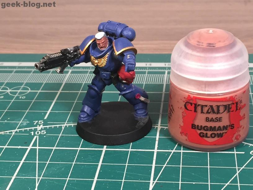 how to paint warhammer head and hair step 02 Bugman's Glow