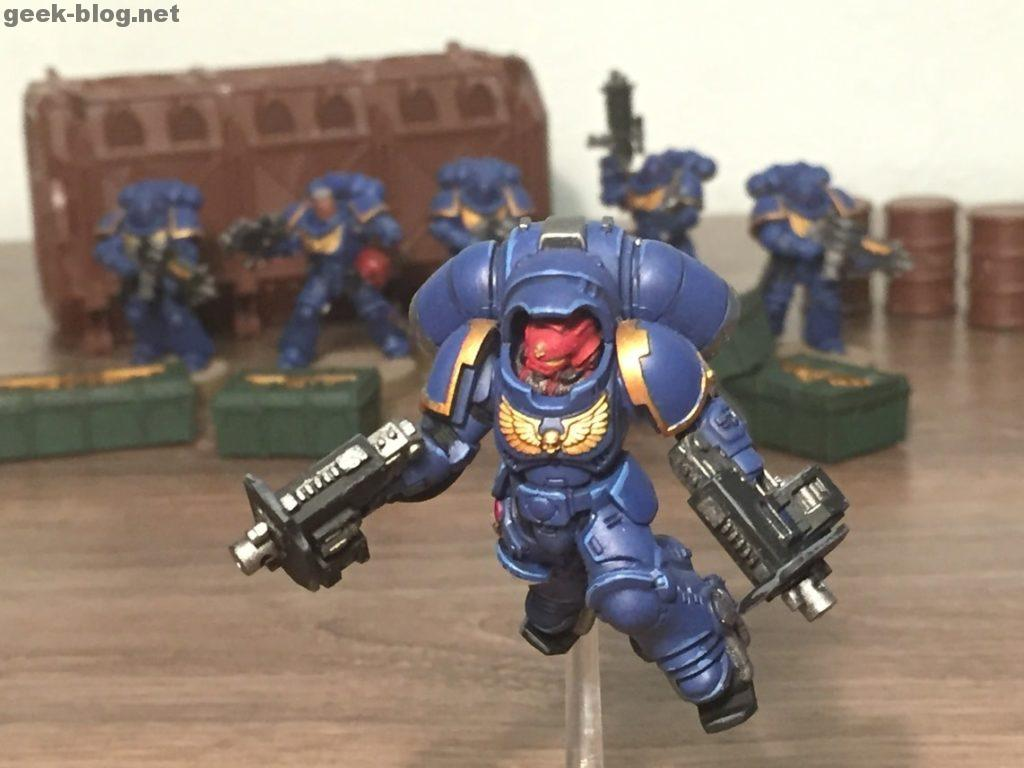 Space Marine Inceptor Sergeant painted figure main photo