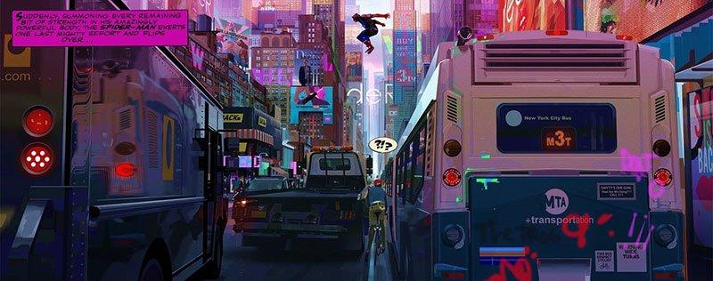 new york spider-man into the spider verse art