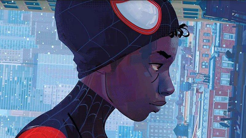 spider-man into the spider verse art