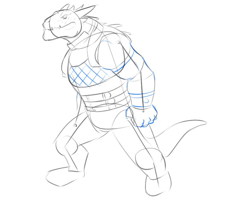 how to draw a dragonborn d&d