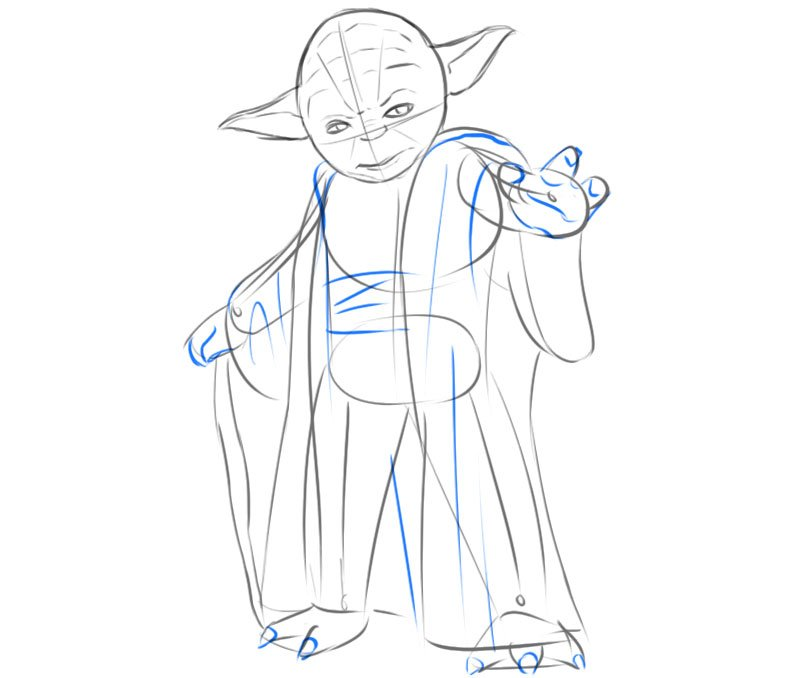 Yoda drawing step by step