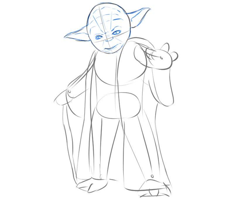 Yoda jedi drawing