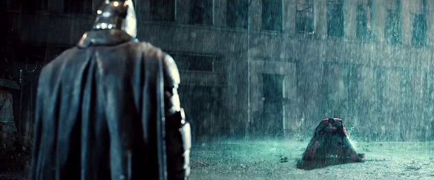 batman v superman battle