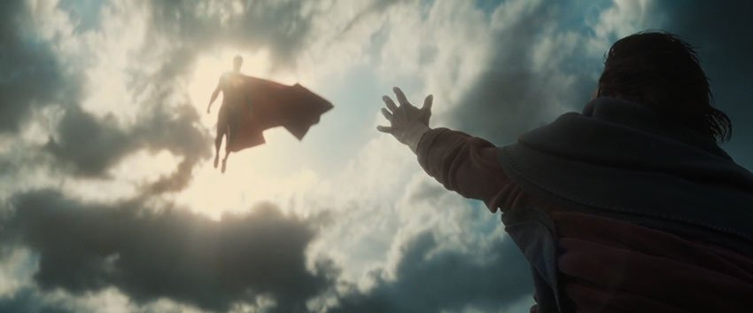 batman v superman from the sky