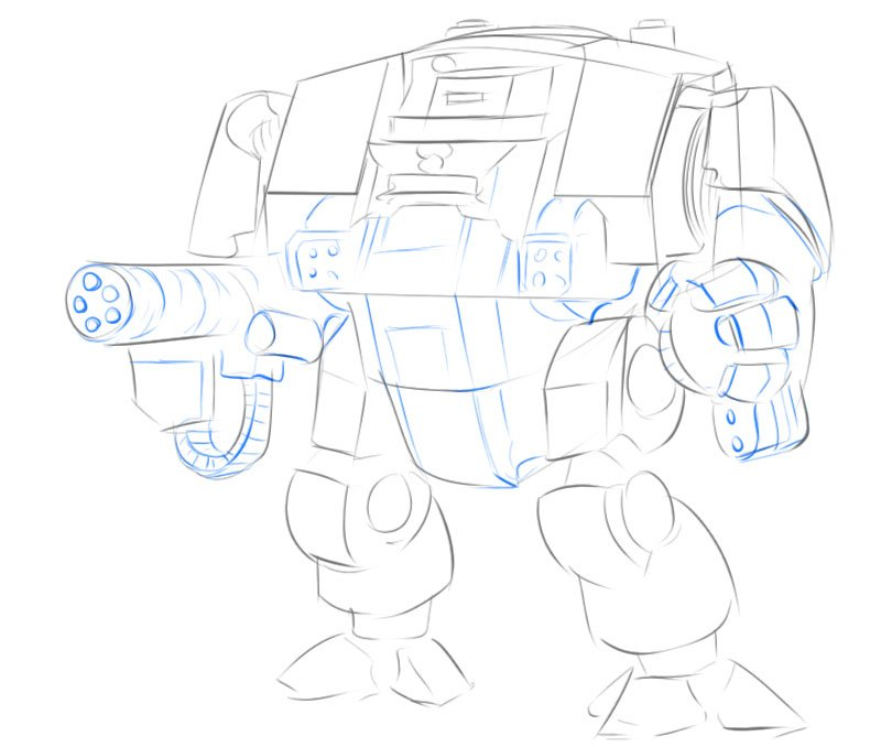 dreadnought drawing step by step