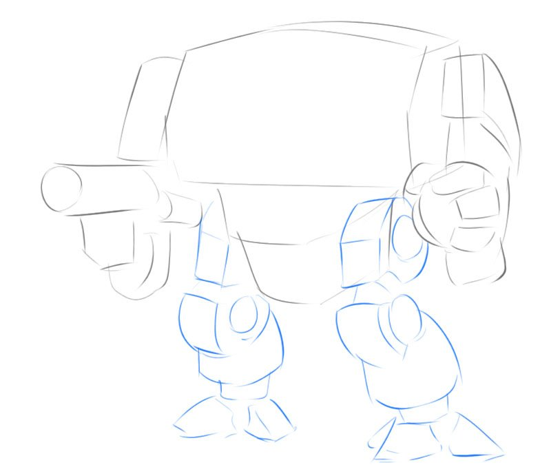 how to draw dreadnought easy step by step