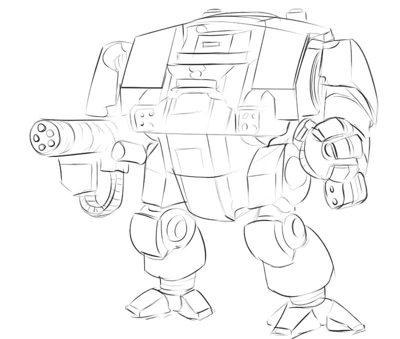 how to draw dreadnought easy warhammer 40 000