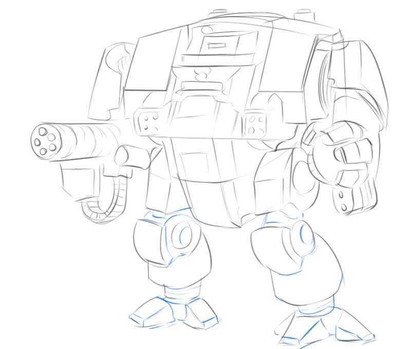 how to draw dreadnought warhammer 40 000