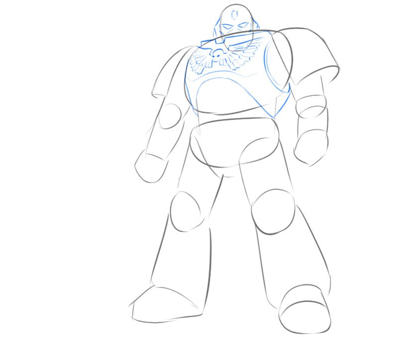how to draw space marine easy