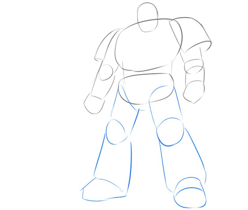 how to draw space marine step by step