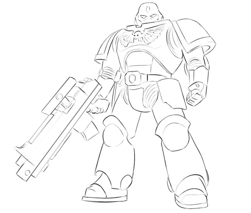 space marine drawing tutorial