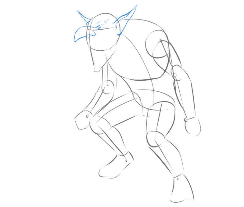 warhammer fantasy goblin drawing