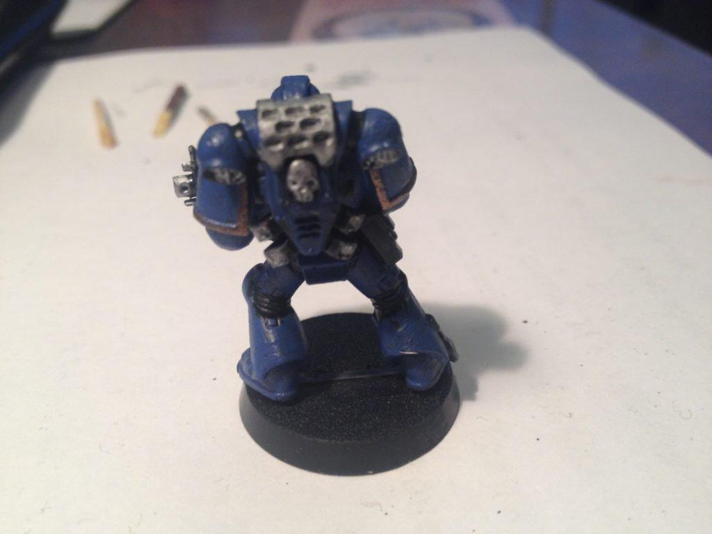 my first warhammer 40k figure from behind