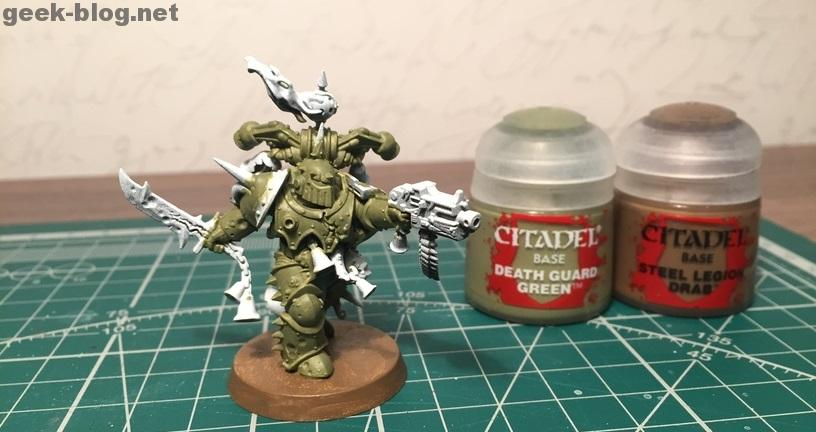 How to paint Death Guard Plague Marine step 2 painting