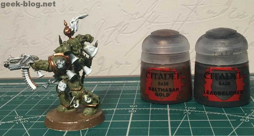 How to paint Death Guard Plague Marine step 3.2 painting