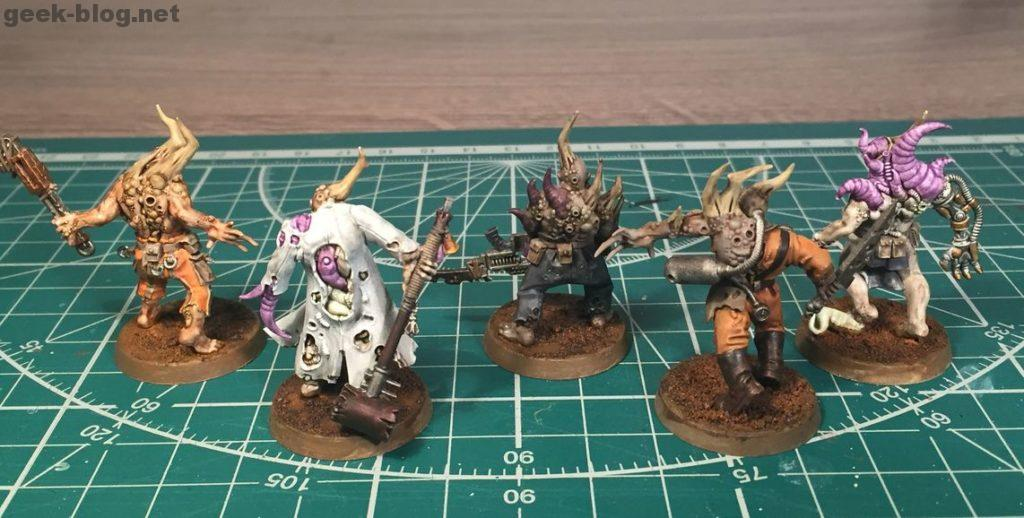 painted Death Guard Poxwalkers pack 1 from behind