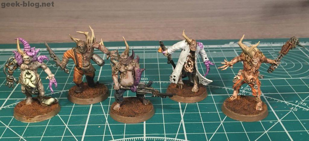 painted Death Guard Poxwalkers pack 1