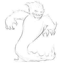 dnd how to draw a fire elemental