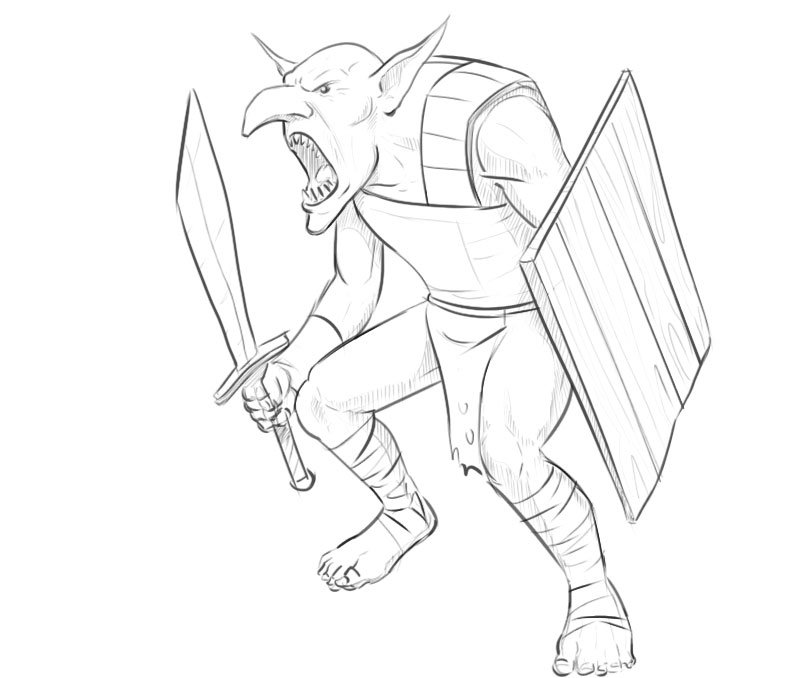 how to draw a goblin from warhammer
