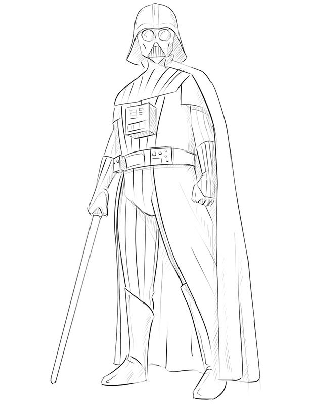 How to Draw Darth Vader