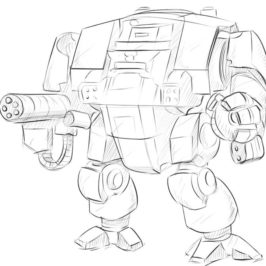 how to draw dreadnought