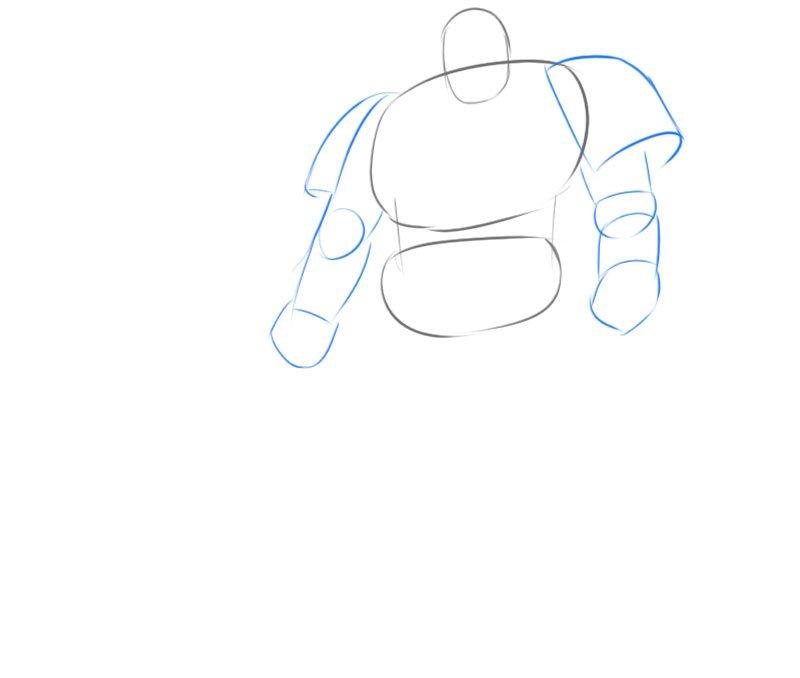 how to draw warhamer 40 000 space marine