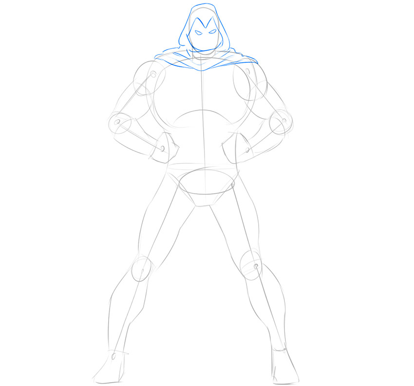 how to draw moon knight from comics