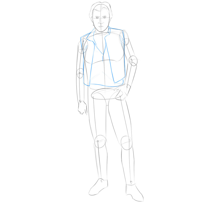 how to draw han solo easy