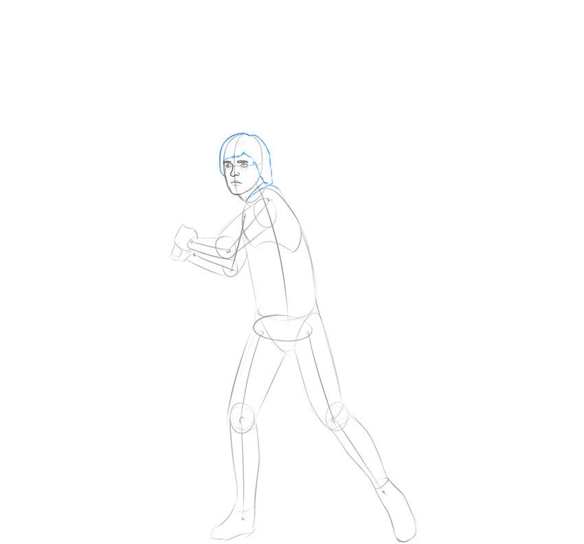 how to draw luke skywalker realistic