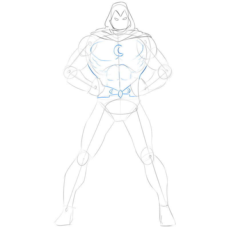 how to draw moon knight from marvel