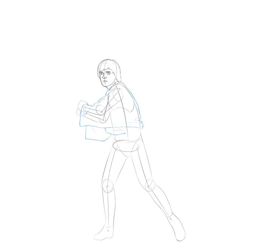 how to draw luke skywalker from star wars