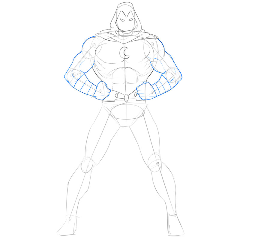 how to draw moon knight marvel