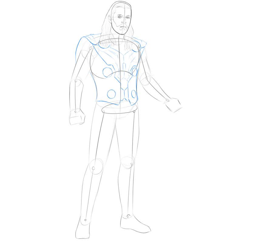 how to draw thor avengers endgame
