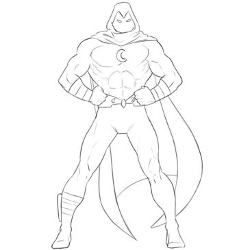 How to Draw Moon Knight